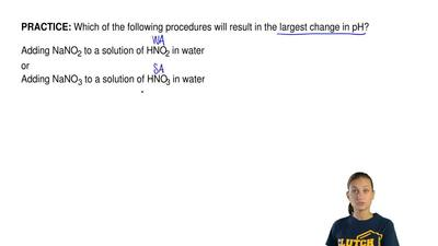 Which of the following procedures will result in the largest change in pH?  Ad...