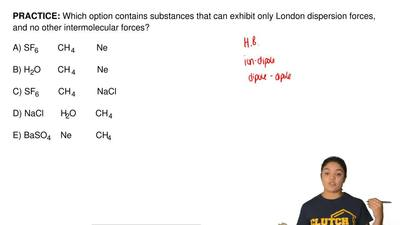 Which option contains substances that can exhibit only London dispersion force...
