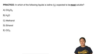 In which of the following liquids is iodine (I 2) expected to be most soluble?...