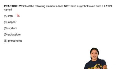 Which of the following elements does NOT have a symbol taken from a LATIN name...