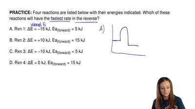 Four reactions are listed below with their energies indicated. Which of these ...
