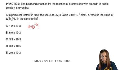 The balanced equation for the reaction of bromate ion with bromide in acidic s...