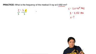 What is the frequency of the medical X-ray at 0.052 nm?    ...