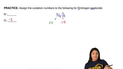 Assign the oxidation numbers to the following for Dinitrogen pentoxide:  N :__...