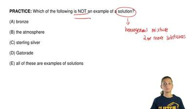 Which of the following is NOT an example of a solution?  (A) bronze  (B) the a...