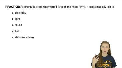 As energy is being reconverted through the many forms, it is continuously lost...