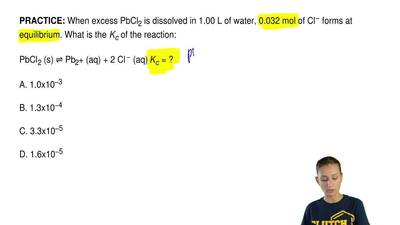 When excess PbCl2 is dissolved in 1.00 L of water, 0.032 mol of Cl − forms at ...