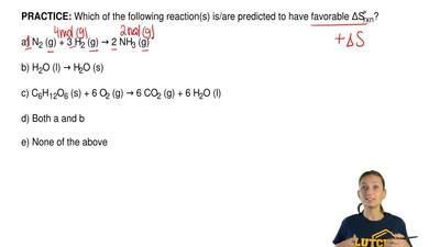 Which of the following reaction(s) is/are predicted to have favorable ∆S ̊rxn?...