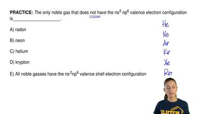 The only noble gas that does not have the ns 2 np6 valence electron configurat...