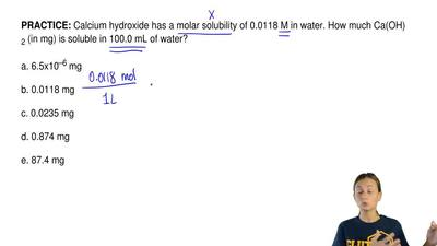 Calcium hydroxide has a molar solubility of 0.0118 M in water. How much Ca(OH)...