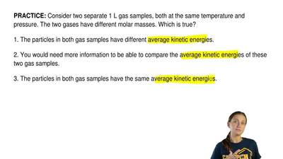 Consider two separate 1 L gas samples, both at the same temperature and pressu...
