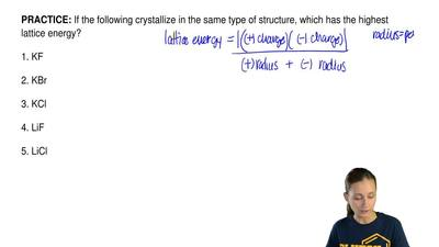 If the following crystallize in the same type of structure, which has the high...