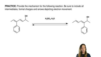 Provide the mechanism for the following reaction. Be sure to include all inter...