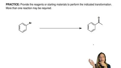 Provide the reagents or starting materials to perform the indicated transforma...