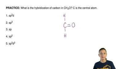 What is the hybridization of carbon in CH 2O? C is the central atom.  1. sp3d ...