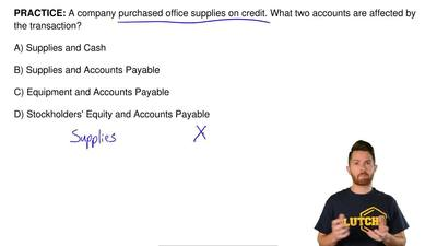 A Company Purchased Office Supplies On Credit What Two Accounts Are Affected