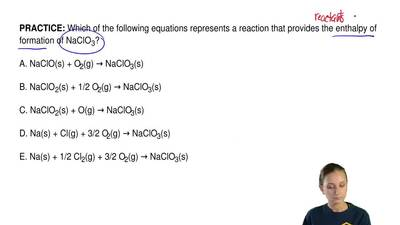 Which of the following equations represents a reaction that provides the entha...