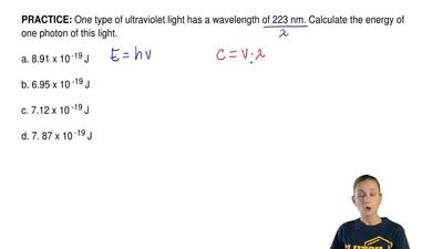 One type of ultraviolet light has a wavelength of 223 nm. Calculate the energy...