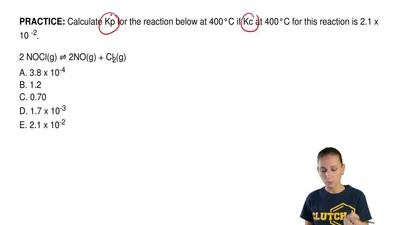 Calculate Kp for the reaction below at 400°C if Kc at 400°C for this reaction ...