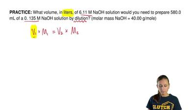 What volume, in liters, of 6.11 M NaOH solution would you need to prepare 580....
