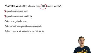 Which of the following does NOT describe a metal?  A) good conductor of heat  ...
