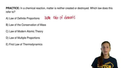 In a chemical reaction, matter is neither created or destroyed. Which law does...