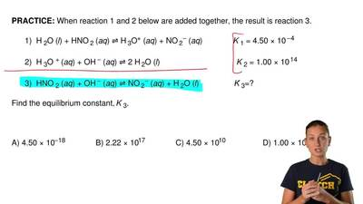 When reaction 1 and 2 below are added together, the result is reaction 3.     ...