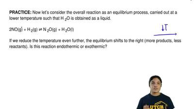 Now let's consider the overall reaction as an equilibrium process, carried out...
