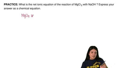 What is the net ionic equation of the reaction of MgCl  2 with NaOH ? Express ...