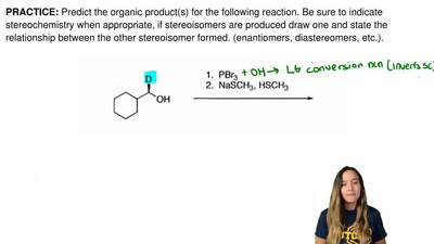 Predict the organic product(s) for the following reaction. Be sure to indicate...
