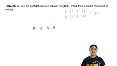 Draw the best dot structure you can for HNNH, where the atoms are connected as...
