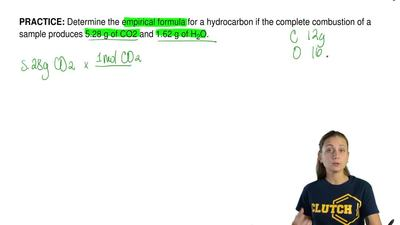 Determine the empirical formula for a hydrocarbon if the complete combustion o...