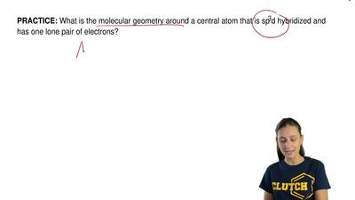 What is the molecular geometry around a central atom that is sp3d hybridized a...
