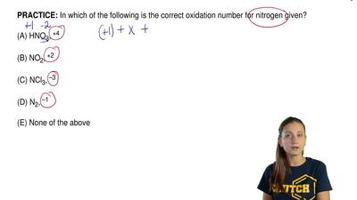 In which of the following is the correct oxidation number for nitrogen given? ...
