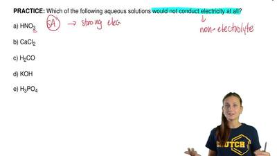 Which of the following aqueous solutions would not conduct electricity at all?...