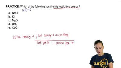 Which of the following has the highest lattice energy?   	NaCl 	KI 	MgO 	BaO 	...