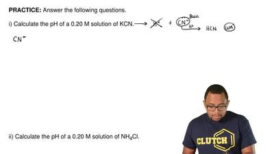 Answer the following questions.   i) Calculate the pH of a 0.20 M solution of ...