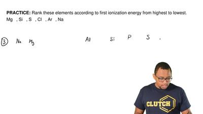 Rank these elements according to first ionization energy from highest to lowes...