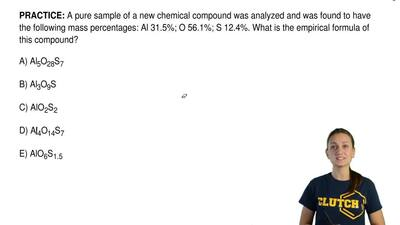 A pure sample of a new chemical compound was analyzed and was found to have th...