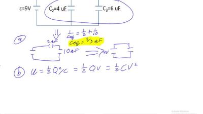 Three capacitors are connected in the circuit as shown in the figure.  (a) Wha...