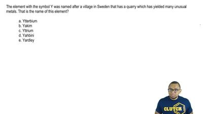 The element with the symbol Y was named after a village in Sweden that has a q...
