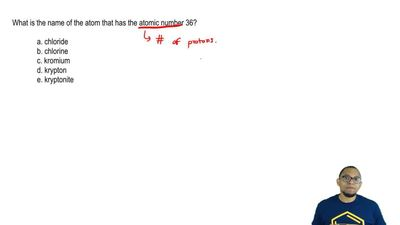 What is the name of the atom that has the atomic number 36?     a. chloride  b...