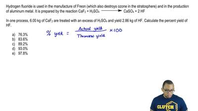 Hydrogen fluoride is used in the manufacture of Freon (which also destroys ozo...