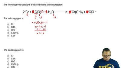 The following three questions are based on the following reaction:  2 Cr + 3 C...
