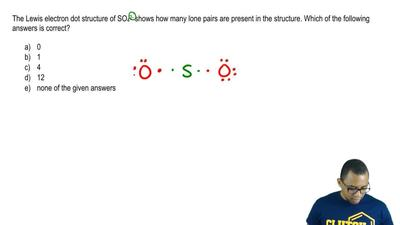The Lewis electron dot structure of SO4 2- shows how many lone pairs are prese...