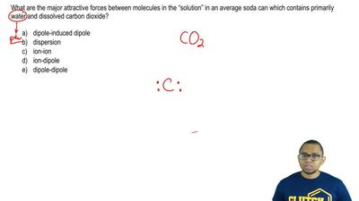 "What are the major attractive forces between molecules in the ""solution"" in an..."