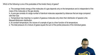 Which of the following is one of the postulates of the kinetic theory of gases...