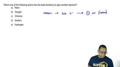 Which one of the following atoms has the least tendency to gain another electr...