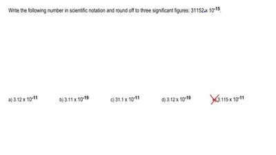 Write the following number in scientific notation and round off to three signi...