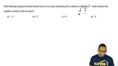If the following compound were formed from an iron atom combining with a nitra...